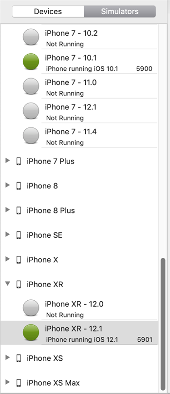 Testing with iOS Gateway Simulators