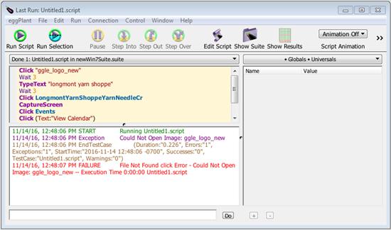 running eggplant functional scripts
